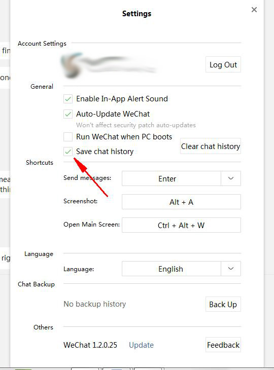 how to download wechat chat history