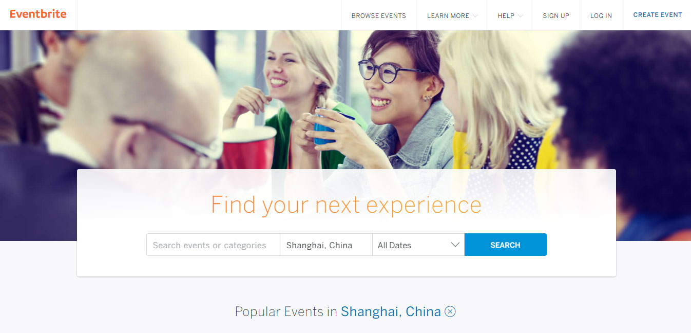 Event Brite China Events Platform