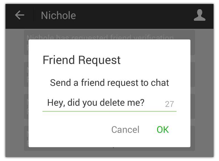 delete wechat friend request