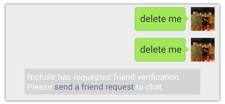 delete wechat automatic message