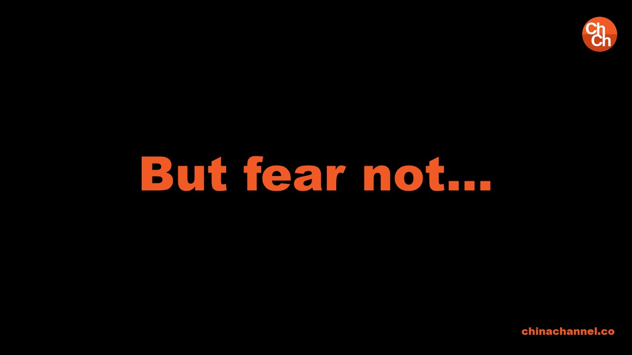 But fear not…