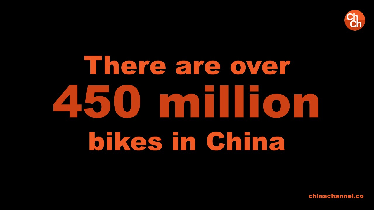 There are over 450 million bikes in China