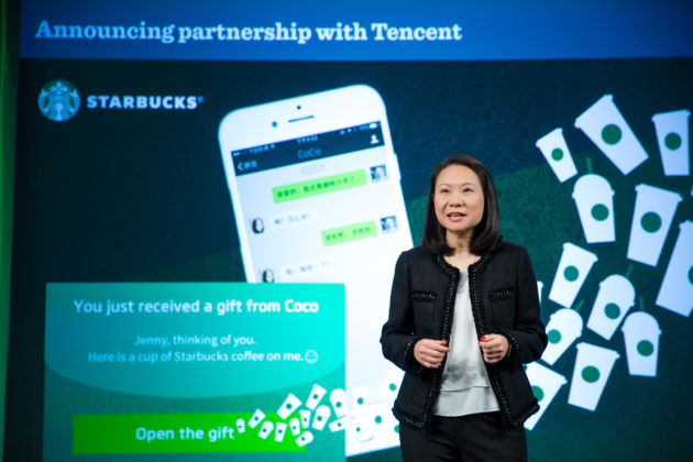 WeChat Starbucks Announcement