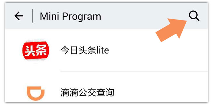 Search WeChat Mini Program