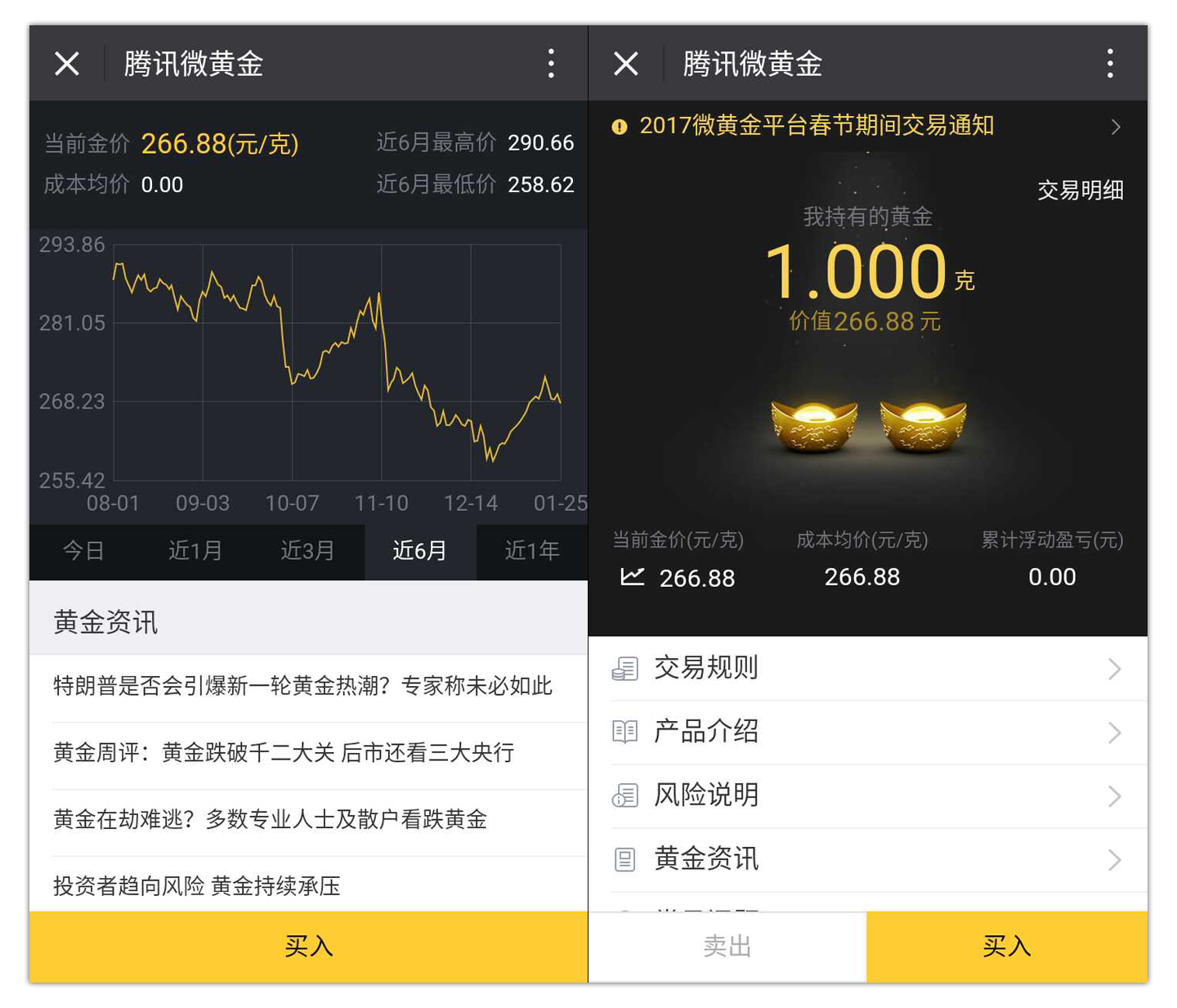 WeGold WeChat Gold Account