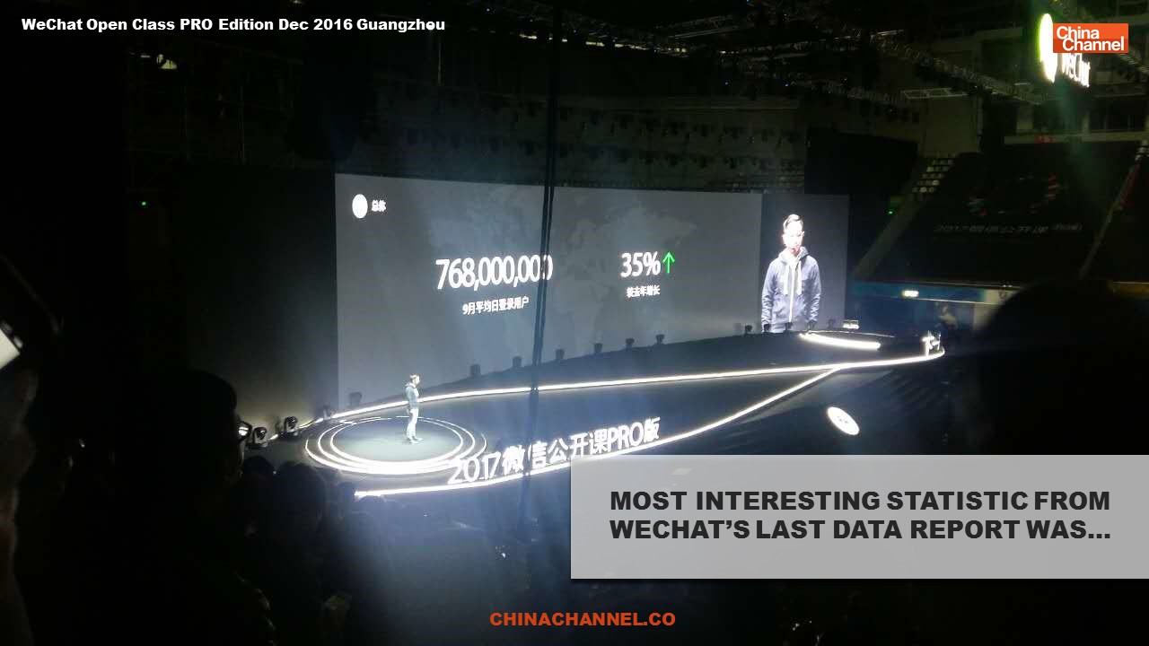 MOST INTERESTING STATISTIC FROM WECHAT'S LAST DATA REPORT WAS…