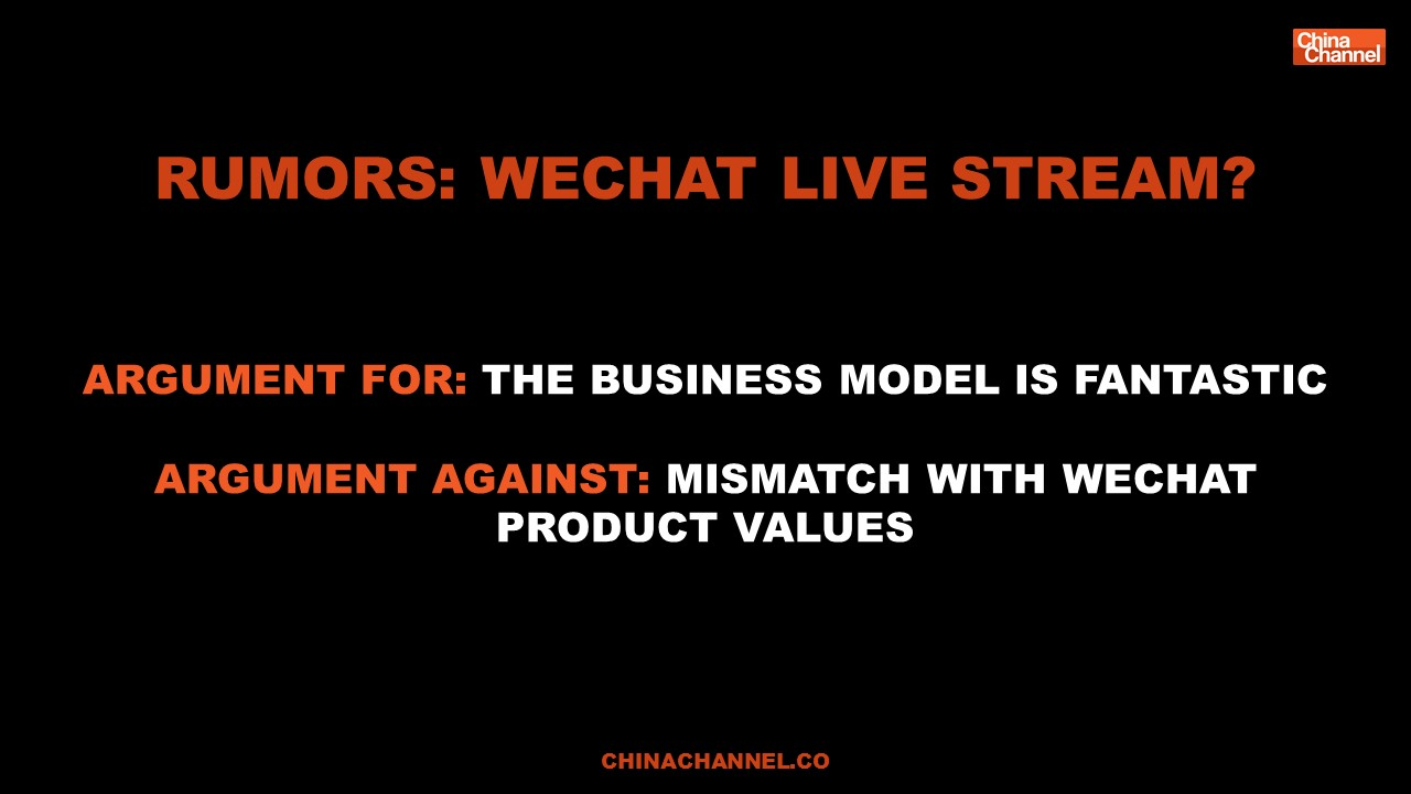 Rumors: Wechat Live stream?
