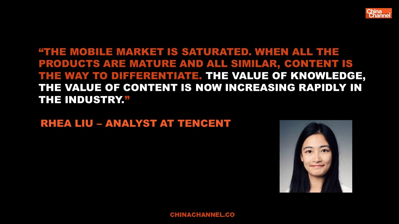 Quote WeChat - Rhea Liu – Analyst at Tencent