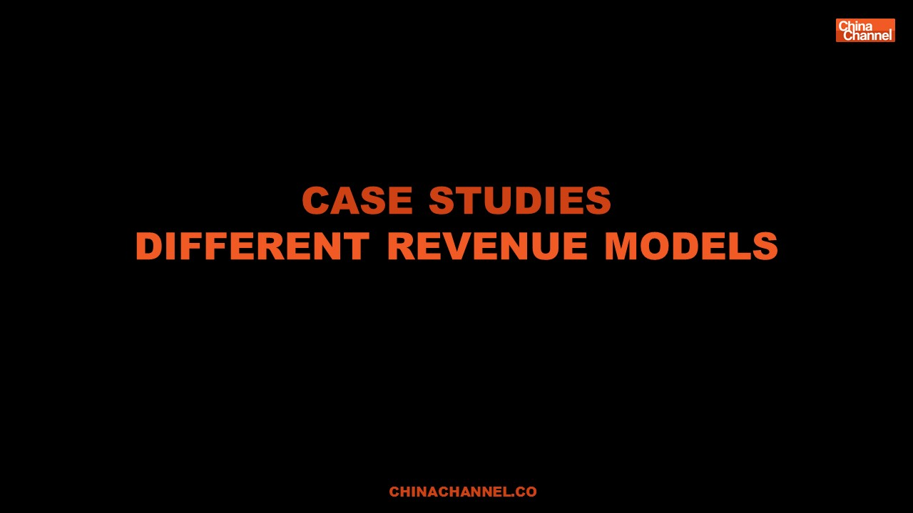 Case studies Different revenue models