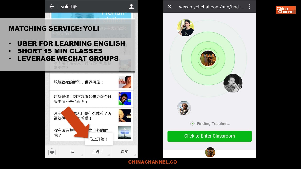 MATCHING SERVICE: YOLI UBER FOR LEARNING ENGLISH SHORT 15
