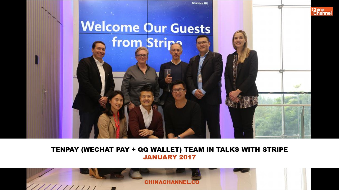 TENPAY (WECHAT PAY + QQ WALLET) TEAM IN TALKS WITH STRIPE JANUARY 2017