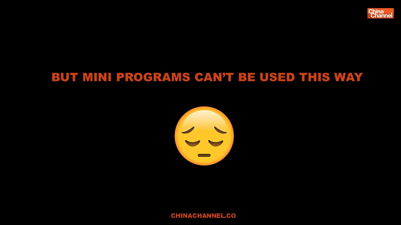 BUT MINI PROGRAMS CAN'T BE USED THIS WAY