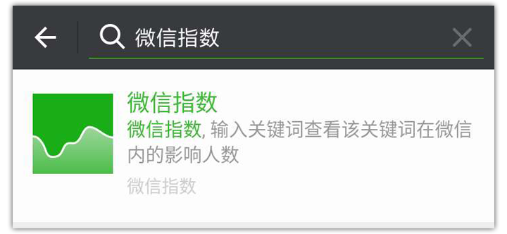 WeChat Trends Search