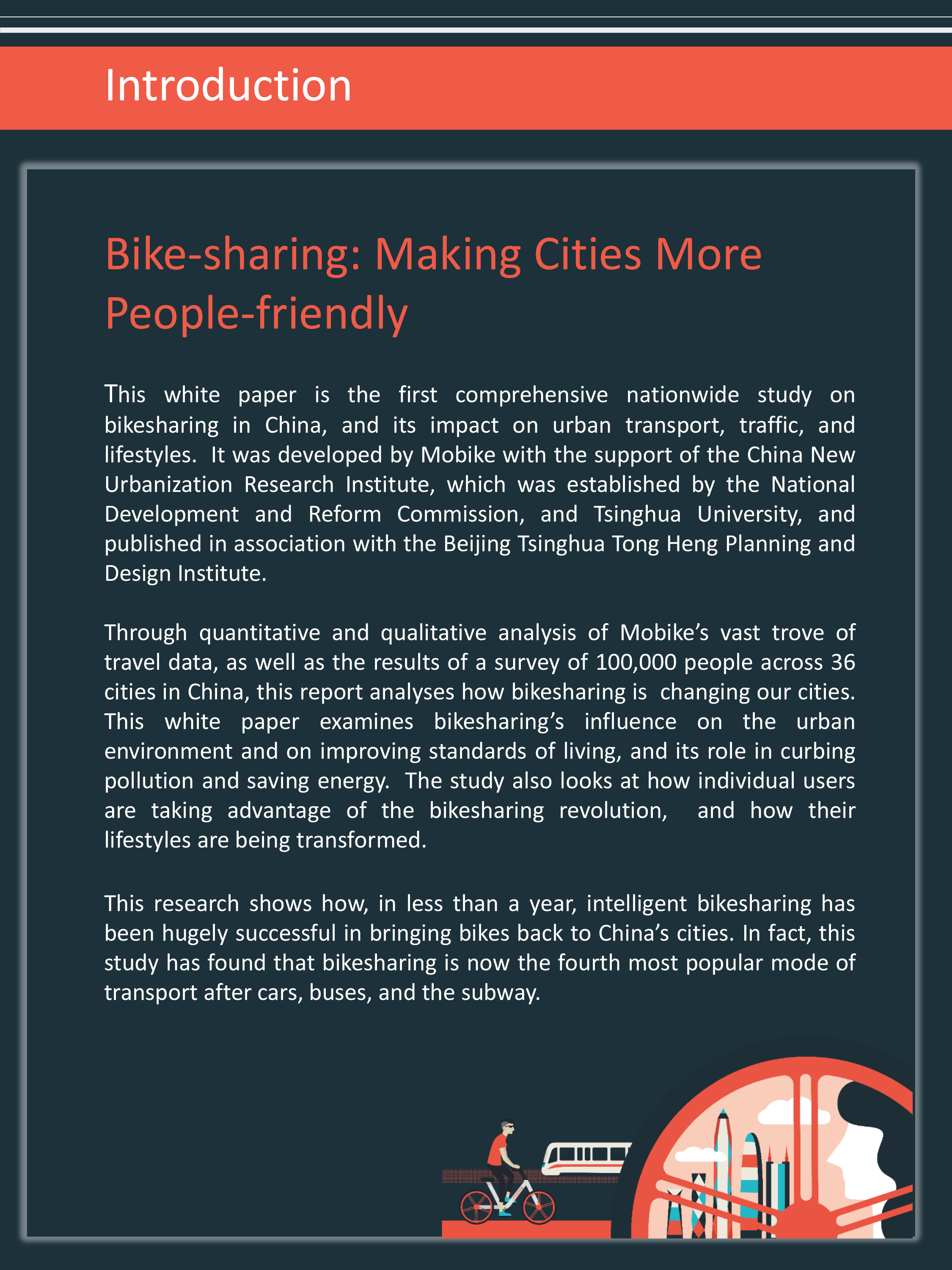 Bike-sharing: Making Cities More People-friendly