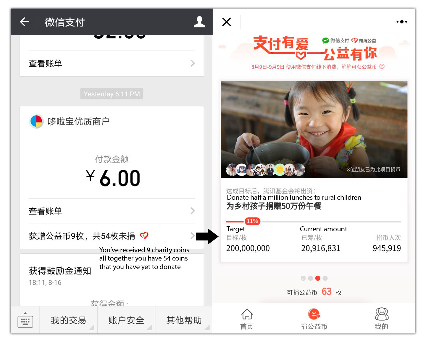 Tencent Charity Payment Incentives