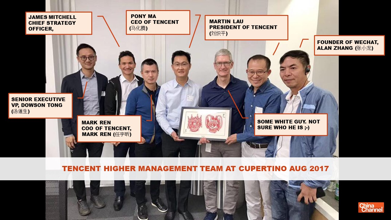 Apple and Tencent Higher Management Meeting August 2017