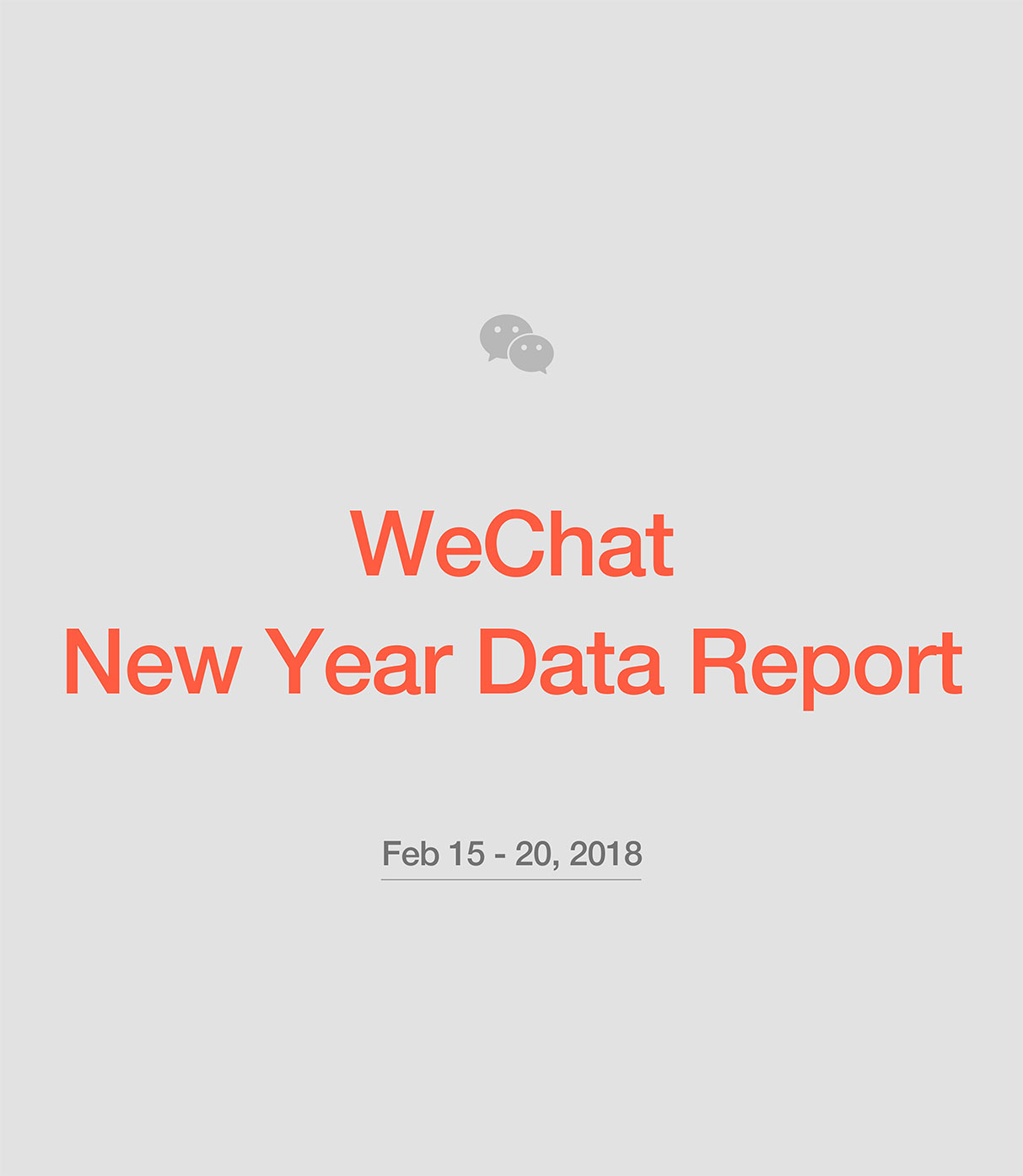WeChat New Year Data Report 2018
