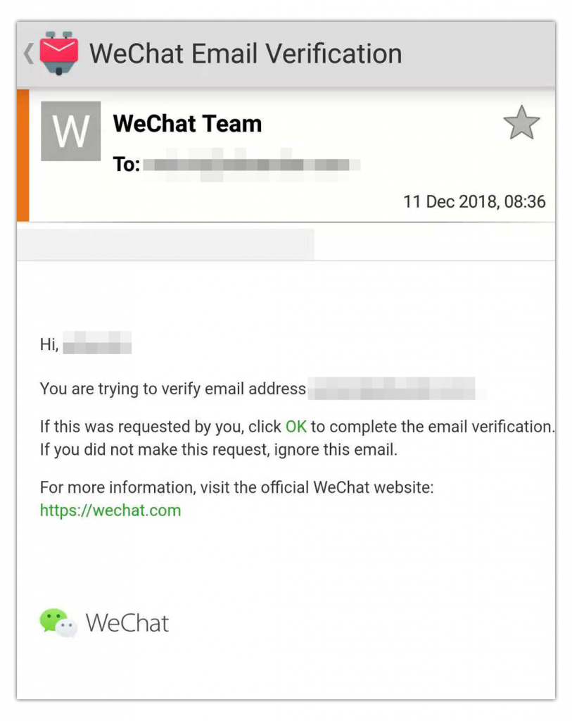 Export Personal WeChat Data Email