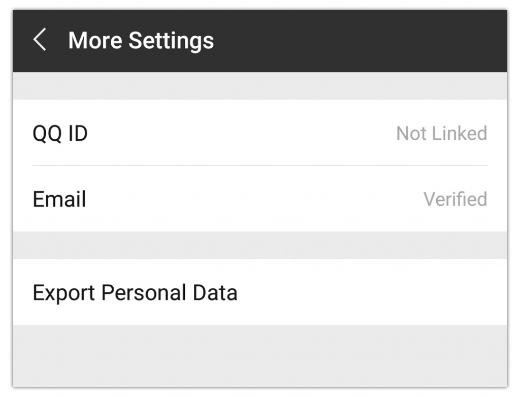 Export Personal WeChat Data Setting